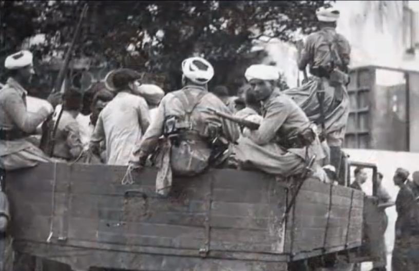 Guerra Civil camión detenidos tropas regulares