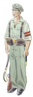 Carabinero republicano en uniforma de campaña