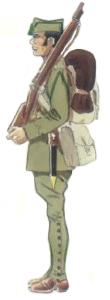 Cazador de 1ª clase uniforme campaña