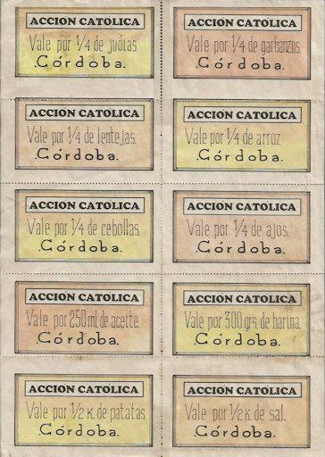 Cupones racionamiento Acción Católica