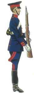 Guardia presidencial en uniforme de diario
