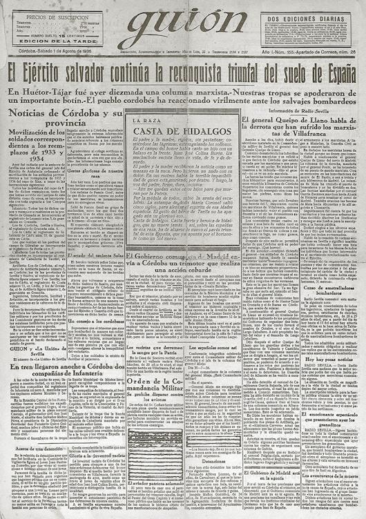 Guión 1 agosto 1936