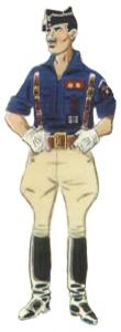 Jefe de Centuria (Teniente) en uniforme de parada