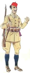 Sargento cazadores África uniforme de parada