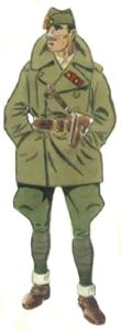 Teniente Coronel uniforme campaña