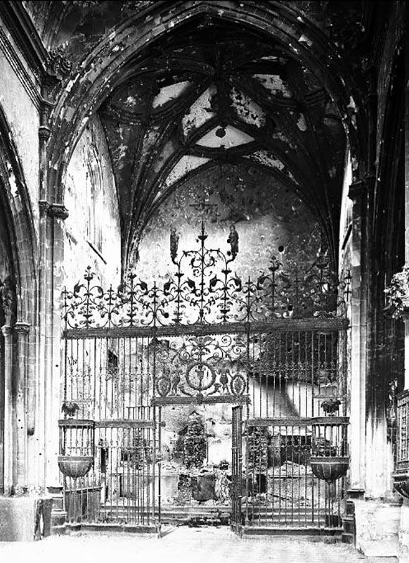 Baena Santa María la Mayor capilla mayor 1937