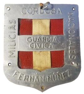 Fernán Núñez. Placa Milicias Nacionales
